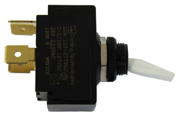 TOGGLE SWITCH, POWER PANEL, 20 AMP, FOR NATIONAL 431/427/429/145